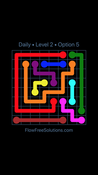 Solution and Answer to the Puzzle for Flow Date Wednesday, February 13, 2019 Level 2