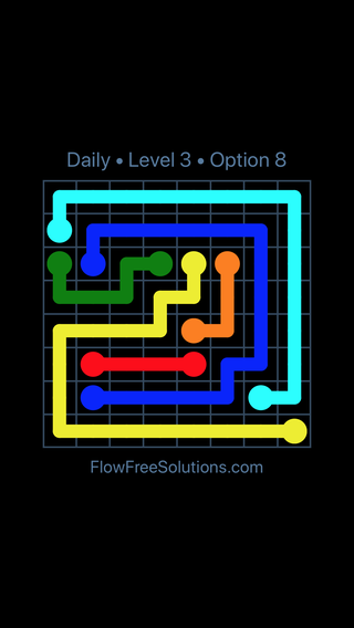 Solution and Answer to the Puzzle for Flow Date Wednesday, February 13, 2019 Level 3