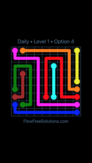 Solution and Answer to the Puzzle for Flow Date Friday, June 8, 2018 Level 1