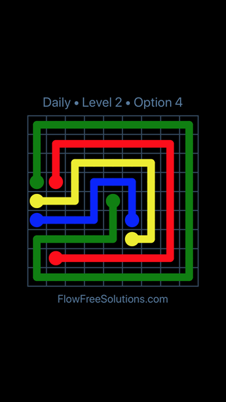 Solution and Answer to the Puzzle for Flow Date Friday, June 8, 2018 Level 2