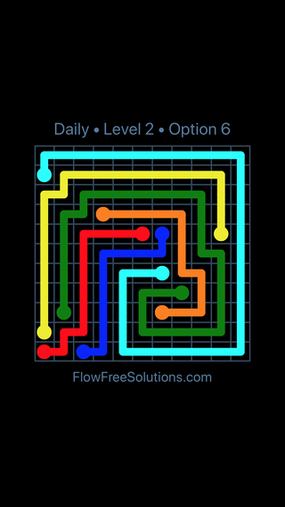 Solution and Answer to the Puzzle for Flow Date Saturday, June 9, 2018 Level 2