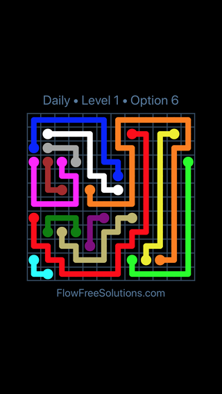 Solution and Answer to the Puzzle for Flow Date Sunday, January 14, 2018 Level 1