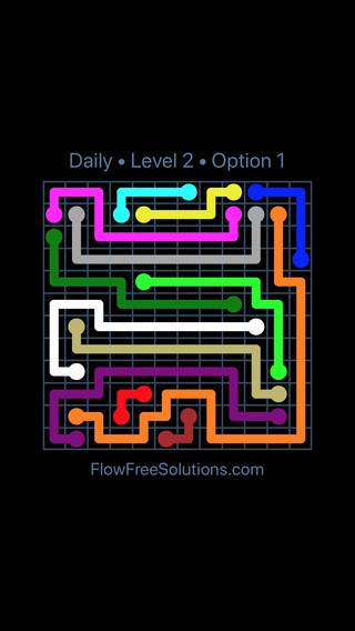 Solution and Answer to the Puzzle for Flow Date Sunday, April 4, 2021 Level 2