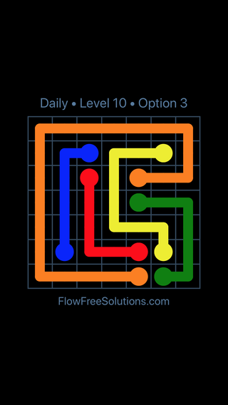 Solution and Answer to the Puzzle for Flow Date Sunday, June 10, 2018 Level 10