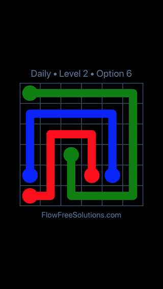 Solution and Answer to the Puzzle for Flow Date Sunday, June 10, 2018 Level 2