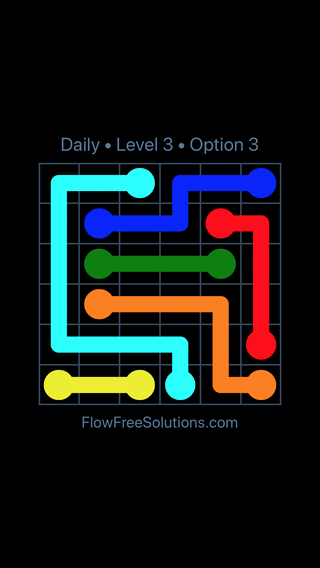 Solution and Answer to the Puzzle for Flow Date Sunday, June 10, 2018 Level 3