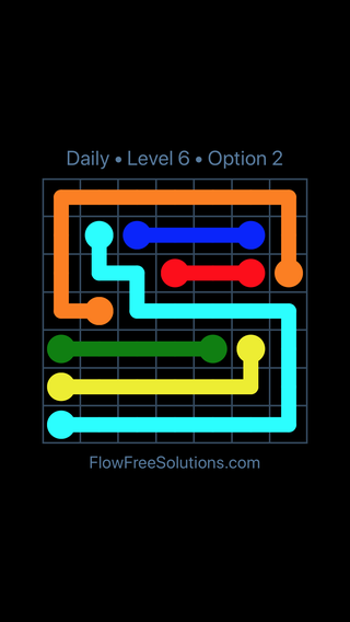 Solution and Answer to the Puzzle for Flow Date Sunday, June 10, 2018 Level 6