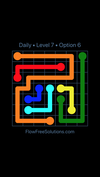 Solution and Answer to the Puzzle for Flow Date Sunday, June 10, 2018 Level 7