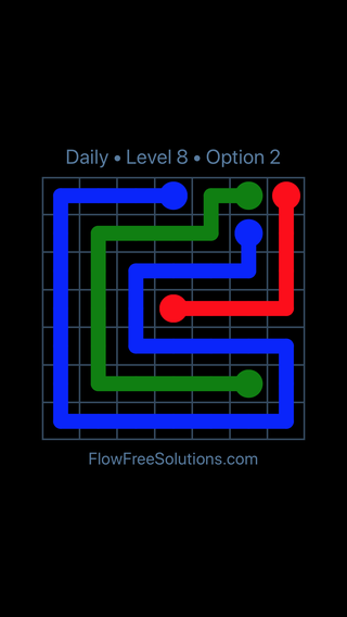 Solution and Answer to the Puzzle for Flow Date Sunday, June 10, 2018 Level 8