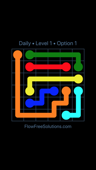 Solution and Answer to the Puzzle for Flow Date Monday, June 11, 2018 Level 1