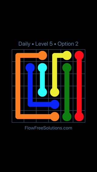 Solution and Answer to the Puzzle for Flow Date Monday, June 11, 2018 Level 5