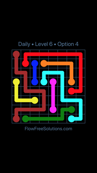 Solution and Answer to the Puzzle for Flow Date Monday, June 11, 2018 Level 6