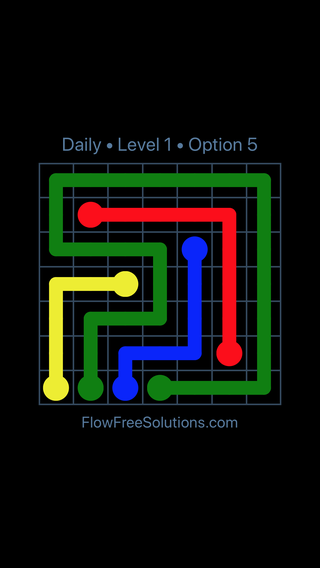 Solution and Answer to the Puzzle for Flow Date Tuesday, June 12, 2018 Level 1