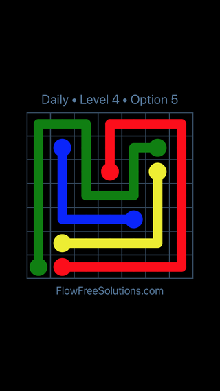 Solution and Answer to the Puzzle for Flow Date Tuesday, June 12, 2018 Level 4
