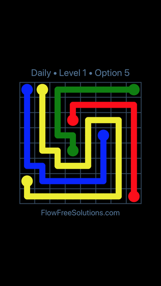 Solution and Answer to the Puzzle for Flow Date Wednesday, June 13, 2018 Level 1
