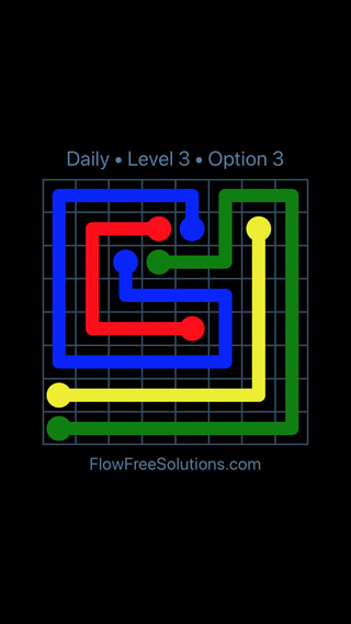 Solution and Answer to the Puzzle for Flow Date Wednesday, June 13, 2018 Level 3