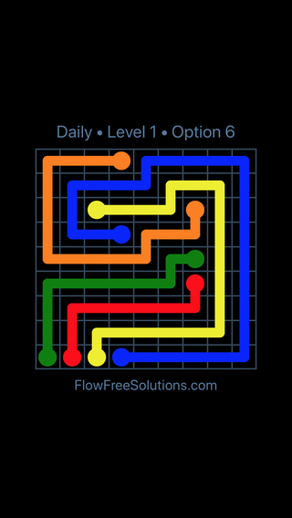 Solution and Answer to the Puzzle for Flow Date Thursday, June 14, 2018 Level 1