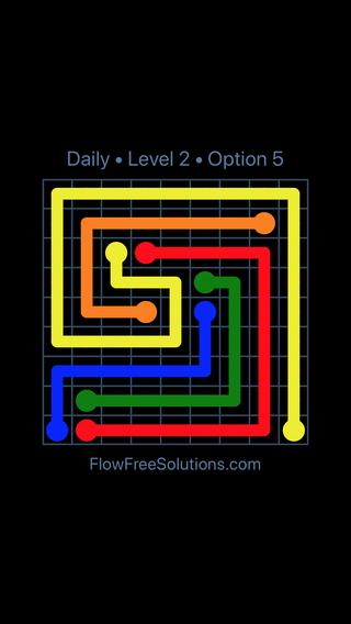 Solution and Answer to the Puzzle for Flow Date Thursday, June 14, 2018 Level 2