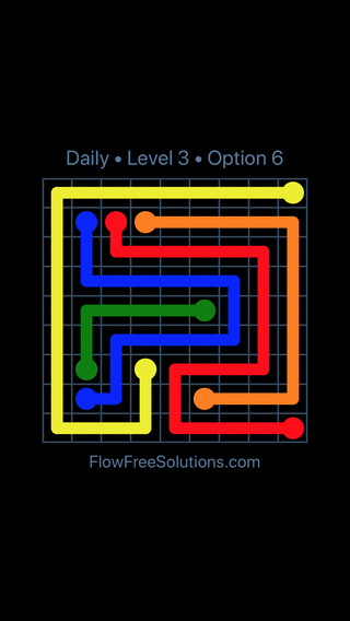 Solution and Answer to the Puzzle for Flow Date Thursday, June 14, 2018 Level 3