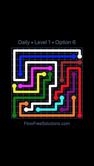 Solution and Answer to the Puzzle for Flow Date Sunday, December 2, 2018 Level 1