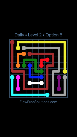 Solution and Answer to the Puzzle for Flow Date Monday, December 3, 2018 Level 2