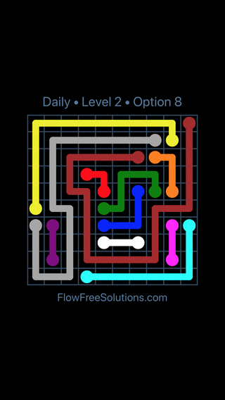 Solution and Answer to the Puzzle for Flow Date Monday, August 12, 2019 Level 2