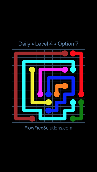 Solution and Answer to the Puzzle for Flow Date Monday, December 3, 2018 Level 4