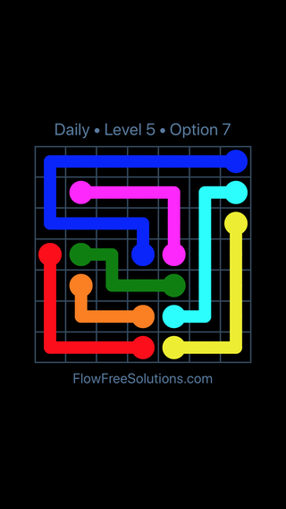 Solution and Answer to the Puzzle for Flow Date Monday, August 12, 2019 Level 5