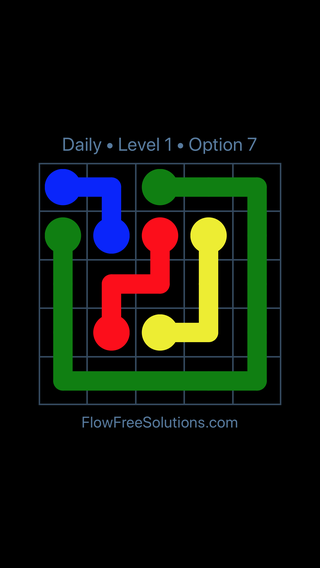 Solution and Answer to the Puzzle for Flow Date Tuesday, December 4, 2018 Level 1