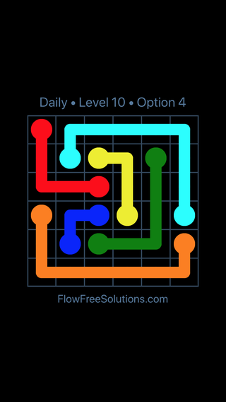 Solution and Answer to the Puzzle for Flow Date Tuesday, December 4, 2018 Level 10