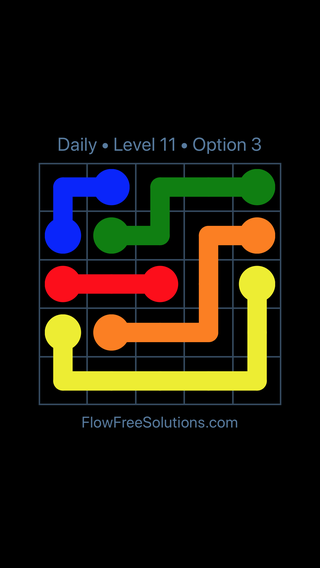 Solution and Answer to the Puzzle for Flow Date Tuesday, August 13, 2019 Level 11
