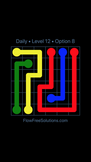 Solution and Answer to the Puzzle for Flow Date Tuesday, August 13, 2019 Level 12