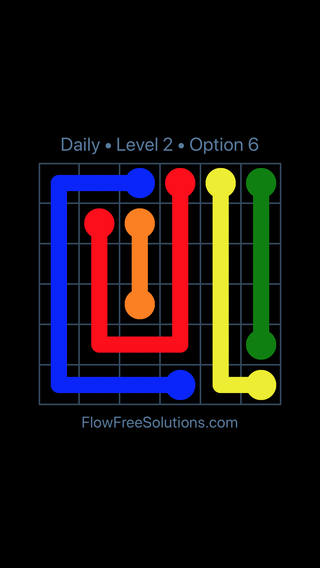 Solution and Answer to the Puzzle for Flow Date Tuesday, September 11, 2018 Level 2