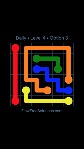 Solution and Answer to the Puzzle for Flow Date Tuesday, September 11, 2018 Level 4