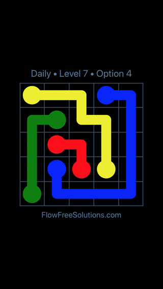 Solution and Answer to the Puzzle for Flow Date Tuesday, August 13, 2019 Level 7