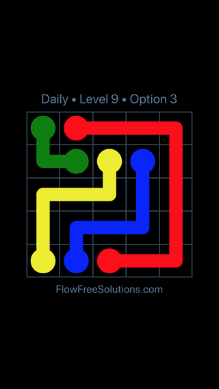Solution and Answer to the Puzzle for Flow Date Tuesday, August 13, 2019 Level 9