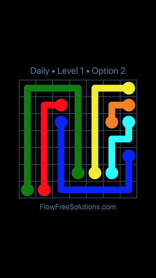 Solution and Answer to the Puzzle for Flow Date Monday, March 11, 2019 Level 1