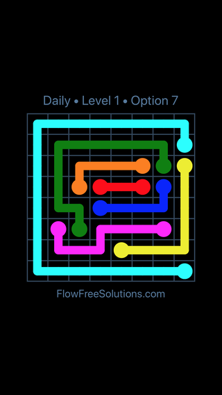 Solution and Answer to the Puzzle for Flow Date Wednesday, August 14, 2019 Level 1