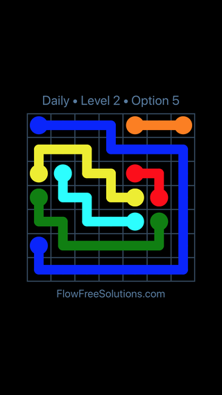 Solution and Answer to the Puzzle for Flow Date Wednesday, December 5, 2018 Level 2