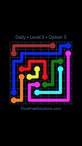 Solution and Answer to the Puzzle for Flow Date Wednesday, December 5, 2018 Level 3