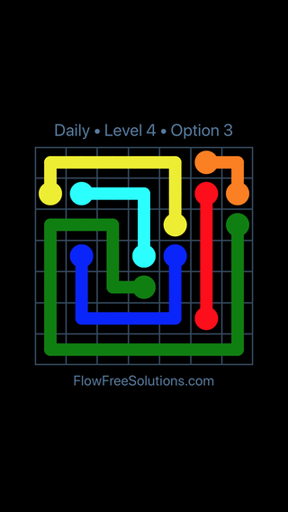 Solution and Answer to the Puzzle for Flow Date Wednesday, September 12, 2018 Level 4