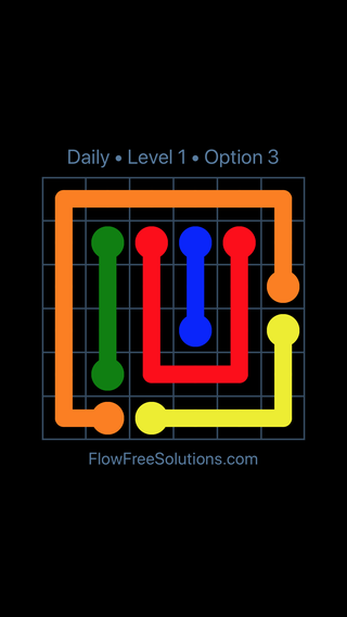 Solution and Answer to the Puzzle for Flow Date Thursday, September 13, 2018 Level 1