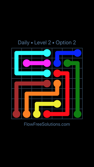Solution and Answer to the Puzzle for Flow Date Thursday, September 13, 2018 Level 2