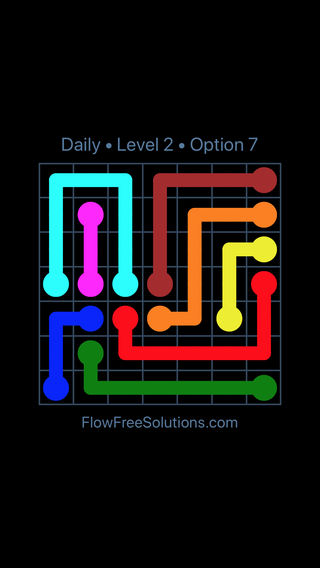 Solution and Answer to the Puzzle for Flow Date Thursday, December 6, 2018 Level 2