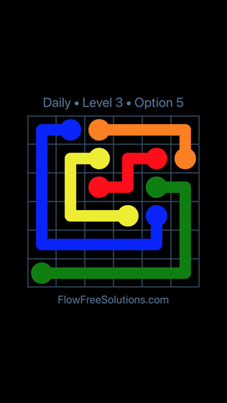 Solution and Answer to the Puzzle for Flow Date Thursday, December 6, 2018 Level 3