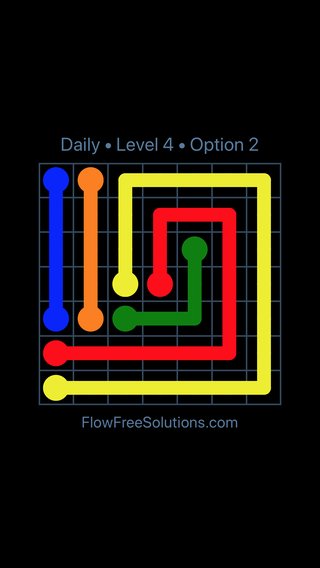 Solution and Answer to the Puzzle for Flow Date Thursday, September 13, 2018 Level 4