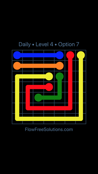 Solution and Answer to the Puzzle for Flow Date Thursday, August 15, 2019 Level 4