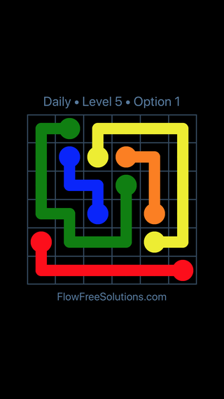 Solution and Answer to the Puzzle for Flow Date Thursday, September 13, 2018 Level 5