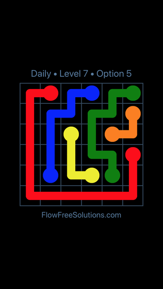 Solution and Answer to the Puzzle for Flow Date Thursday, September 13, 2018 Level 7