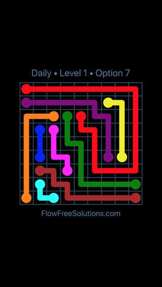 Solution and Answer to the Puzzle for Flow Date Friday, December 7, 2018 Level 1
